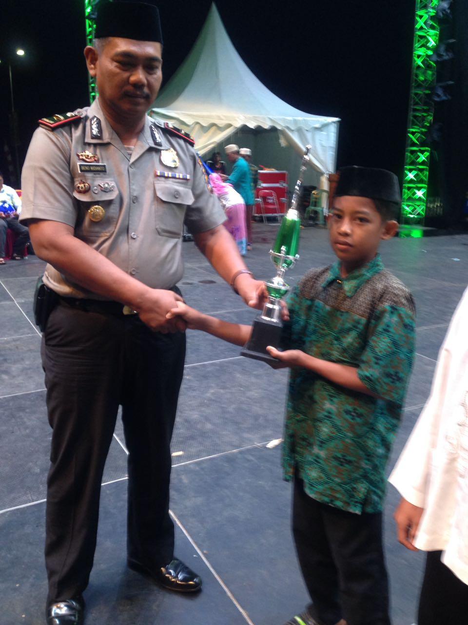 Juara I Hifzil 1 Juz Putra MTQ2018