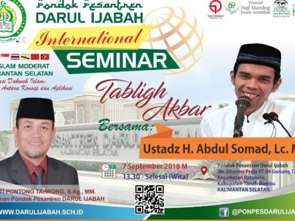 Darul Ijabah International Seminar & Tabligh Akbar oleh Ustad Somad.
