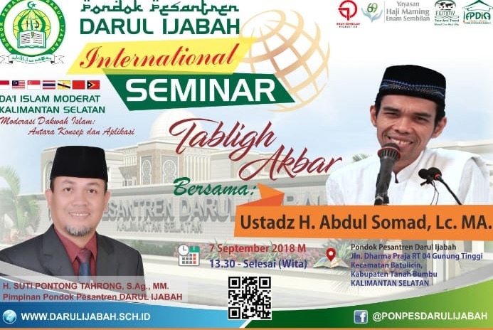 Darul Ijabah International Seminar & Tabligh Akbar oleh Ustad Somad.